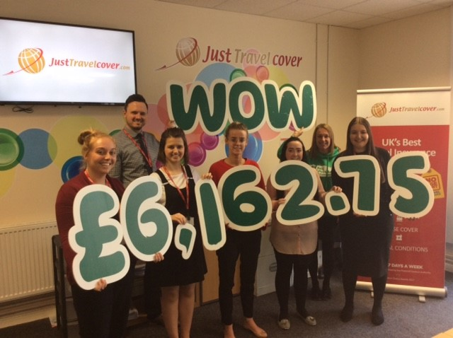 Just Travel Cover raises more than £6,000 for cancer charity